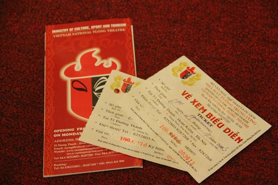 Vietnam National Tuong Theatre: The theatre's leaflet & tickets