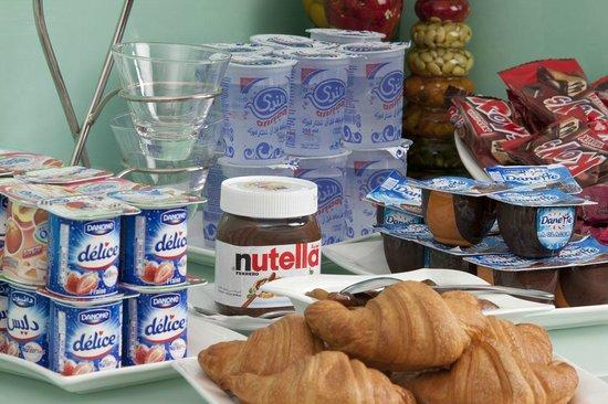 Awal Hotel: Breakfast (food selection)