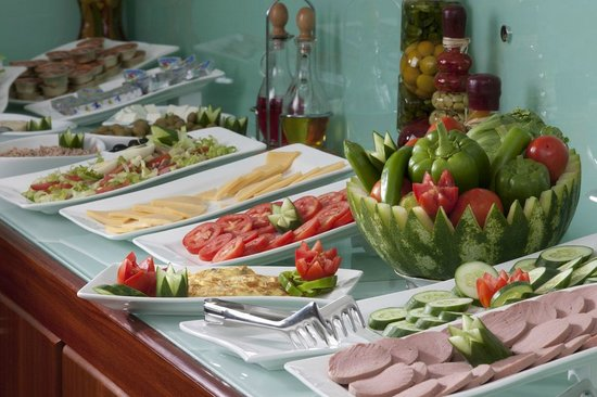 Awal Hotel: Breakfast (food selection)