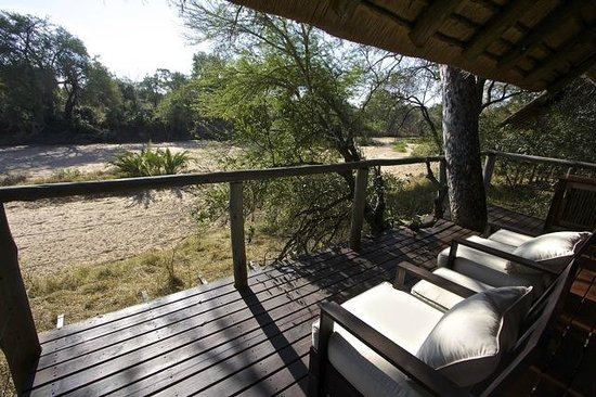 Rhino Post Safari Lodge : View from Balcony - Room 4
