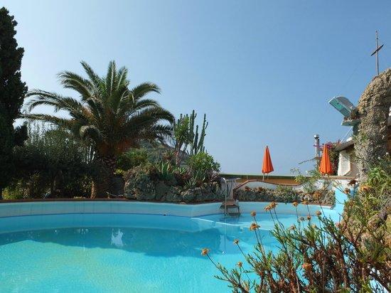 Hotel Villa Sirena : pscina con vista mare
