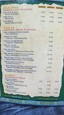Carta picture of los coloniales seville tripadvisor - Bar coloniales sevilla ...
