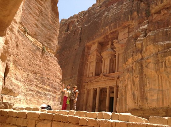 Via Jordan Travel  - Day Tours: just one of the many buildings in petra carved out of Rock