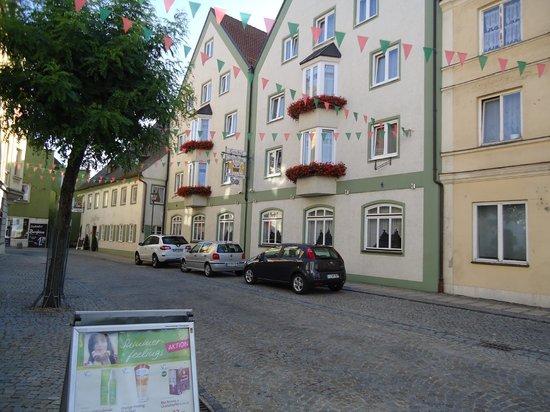 Mainburg, Germany: from outside, main street entrance