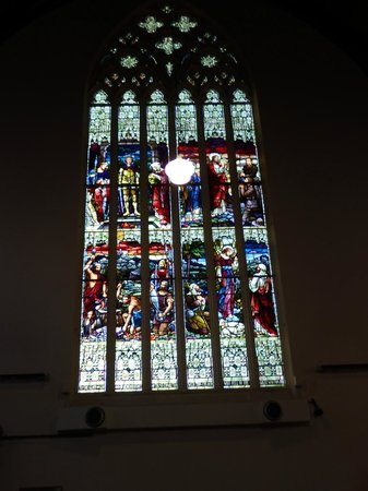 First Church of Otago: The stained glass windows were glorious