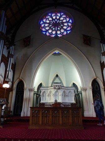 First Church of Otago: The beautiful altar and amazing pulpit