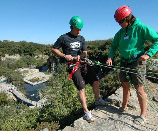 BF Adventure : Abseiling into the Adventure Quarry
