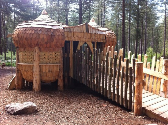 Moors Valley Country Park and Forest: Play trail structure