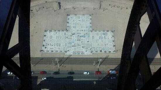 Comedy Carpet: from the tower