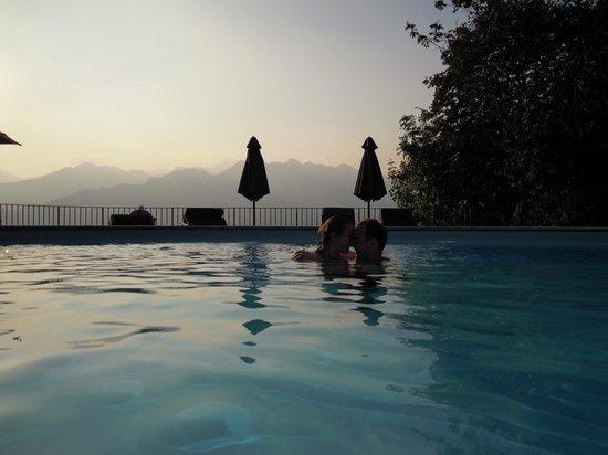Park Hotel Querceto: tramonto dalla piscina