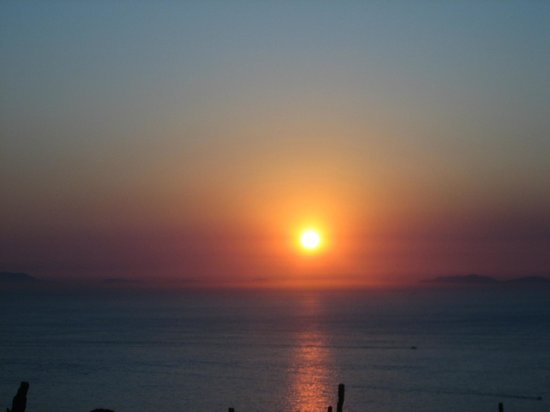 Art Hotel Gran Paradiso: Sunset over the Bay of Naples from Hotel