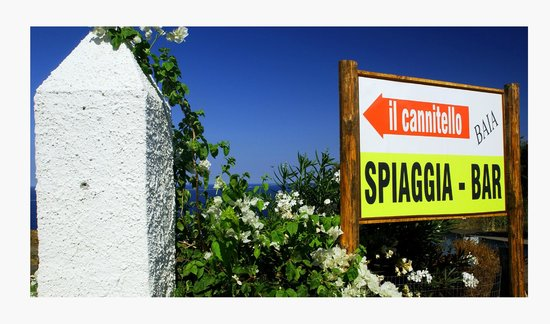Agriturismo Punta Aria : Cartello spiaggia Canitello
