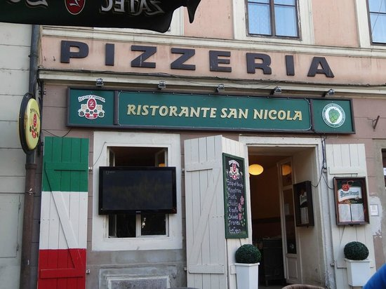 U Kostela (near church): Front view of the restaurant. Servers place your order. All dining is outside