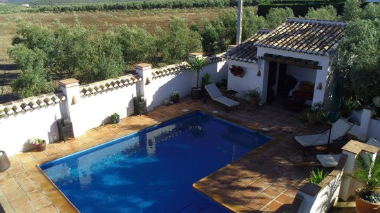 Cortijo Piedra: Pool area from our terrace