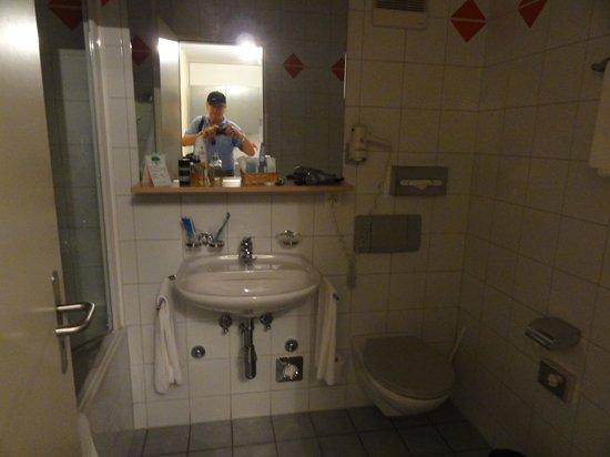 Astra Hotel Vevey: Bath / shower / WC etc