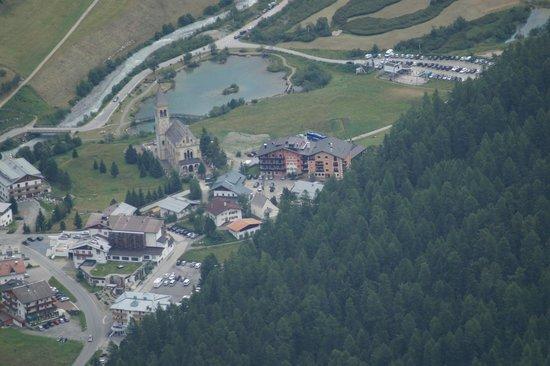 Parc Hotel: zicht van op de berg