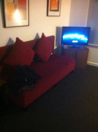 Apartments of South Yarra: big tv