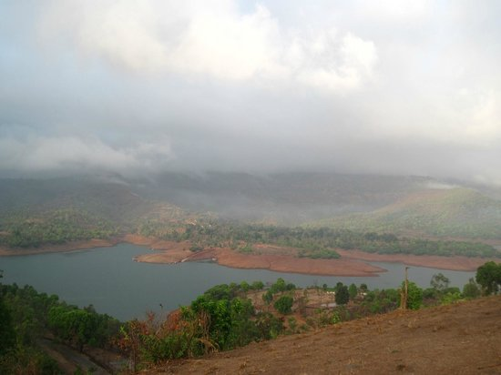 Nisarga Agro Tourism and River Camp: View from hill top behind resort