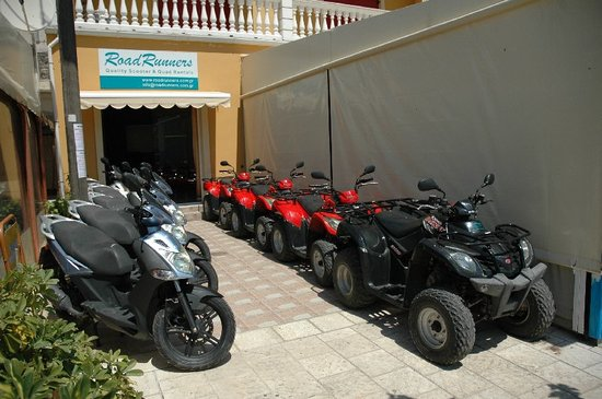 Agia Efimia, Greece: RoadRunners fleet of modern Agility scooters (125 & 150cc) and MXU quads (150 & 300cc)