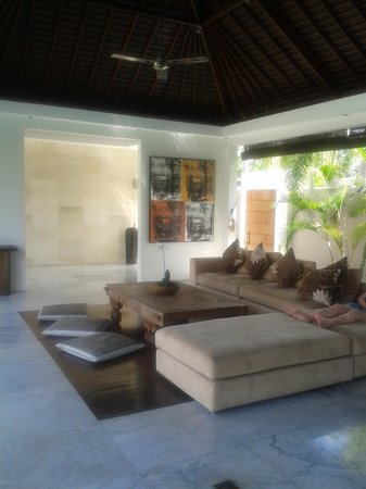 Chandra Luxury Villas Bali: Lounge Area - Villa 8