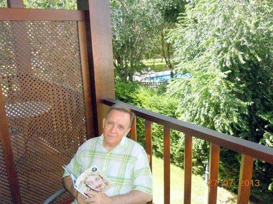 Parador de Manzanares: Vista de la piscina desde la terraza de la habitación
