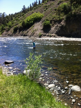 Pagosa Riverside Campground: The river right by the campgrounds