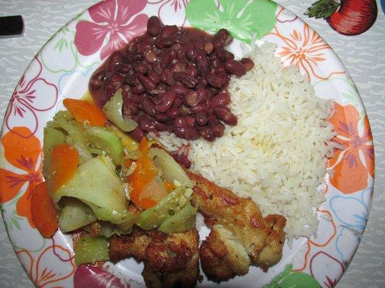 Drake Bay, Kostaryka: Dinner - yum!