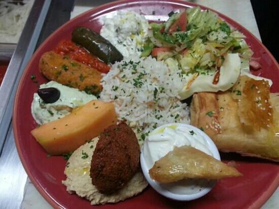 Cafe Istanbul: veggie platter