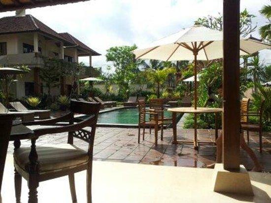 Inata Bisma Resort & Spa Ubud: view over first pool area