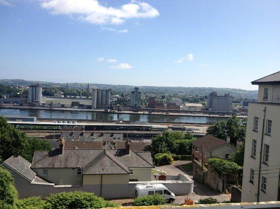 Emerson House: Blick über den Hafen von Cork aus meinem Zimmer
