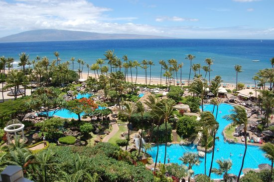 The Westin Maui Resort & Spa: View from room above lobby