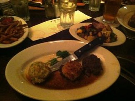 Wildfire : Trio of filets with Potato, Parmesan and Mushroom crusts