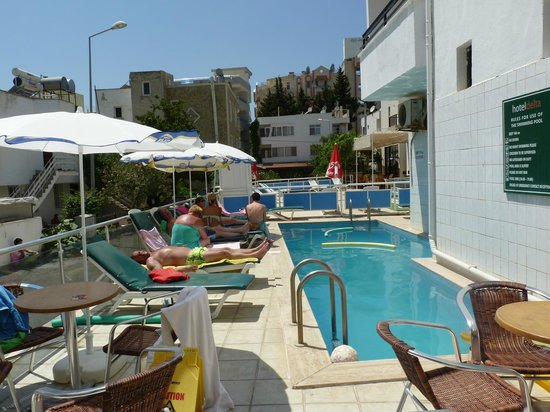 Delta Hotel : Pool and sunbed area!!