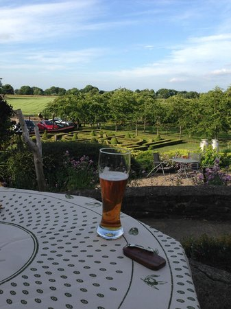 Clow Beck House: View from the restaurant