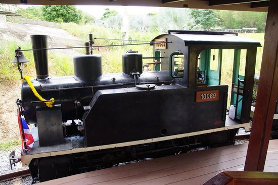 Thongsomboon Club: Train take you up the hill to rides