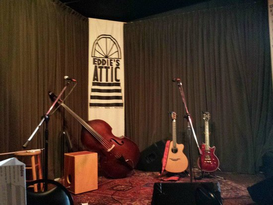 Decatur, GA: Stage at Eddie's Attic, view from our seats.