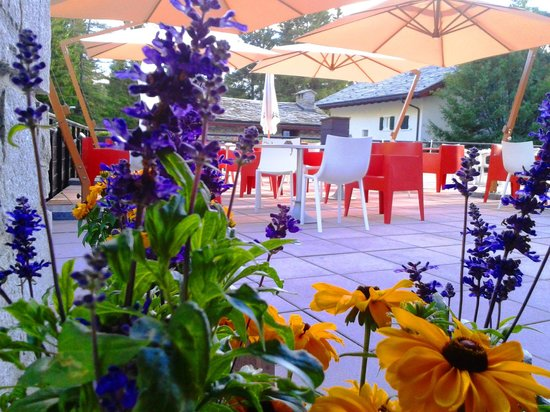 Hotel Arlecchino: Terrazzo d'estate