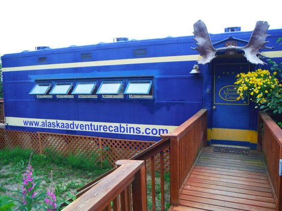 Alaska Adventure Cabins: From the front walkway
