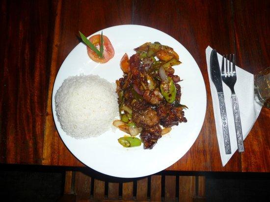 Dilena Beach Inn Sea Food Restaurant: Deviled kalamari