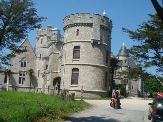 Château d'Abbadie : le chateau vu du parc