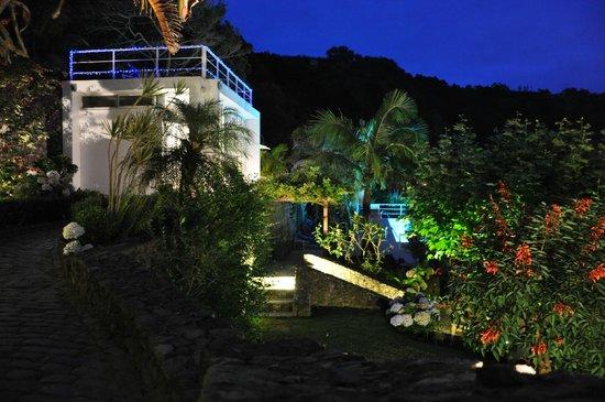 Quinta do Mar: éclairage de nuit du parc