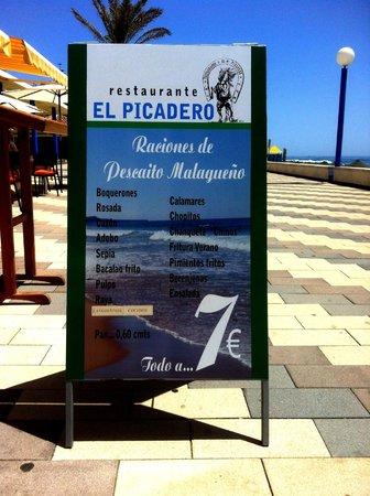 Restaurante El Picadero: El Picadero - raciones