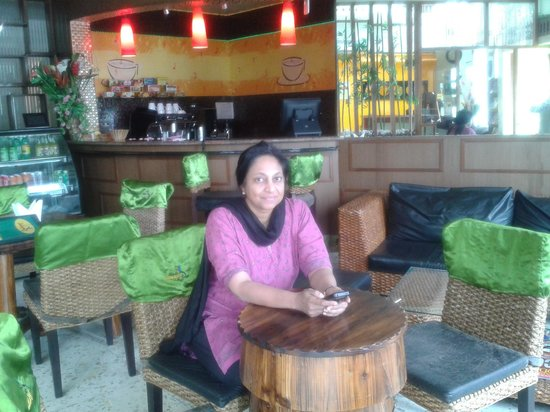 Hotel Jamayca: At the coffee shop in Jamayca
