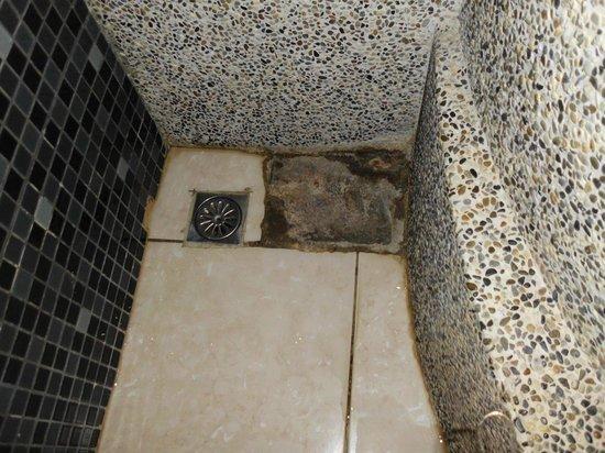 Beverly Garden Motel: 淋浴間外左下方開小洞