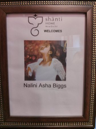 Shanti Home : I was greeted by a personalized announcement from an image of one of my paintings from my websit