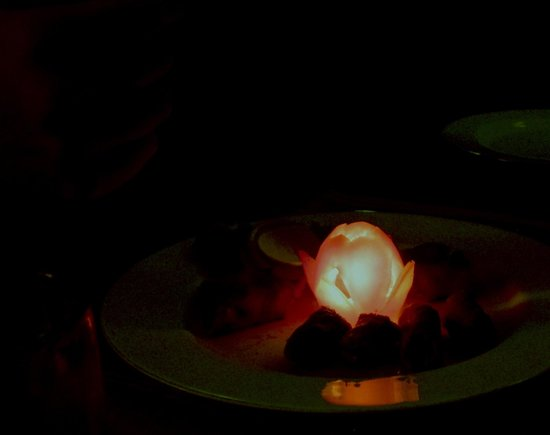 Shanti Home: They cut my tomato into a lotus candle holder!