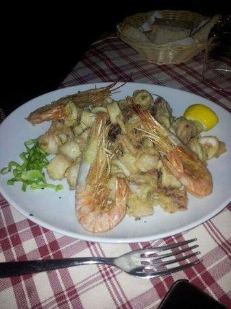 Hotel Ristorante Principe Decurtis : buonissimo fritto calamari e gamberi