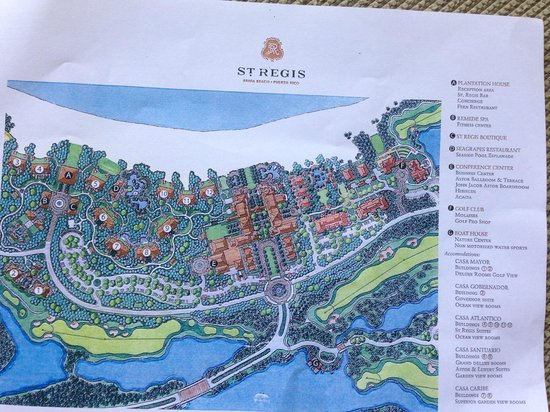 The St Regis Bahia Beach Resort Puerto Rico Layout Of Property