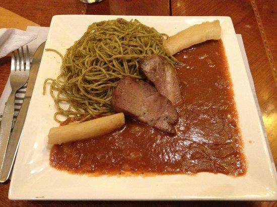 Restaurante El Batan: Exquisita carapulcra con sopa seca