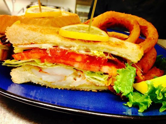 Shrimp blt special picture of fish tale grill by for Fish tales cape coral